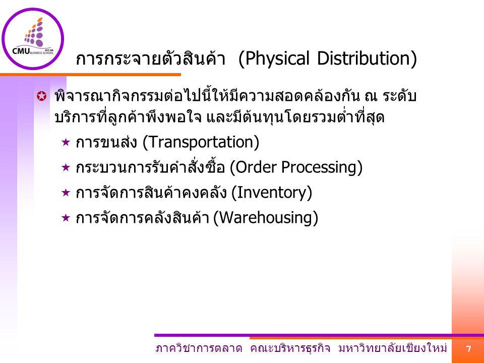 การกระจายตัวสินค้า (Physical Distribution)