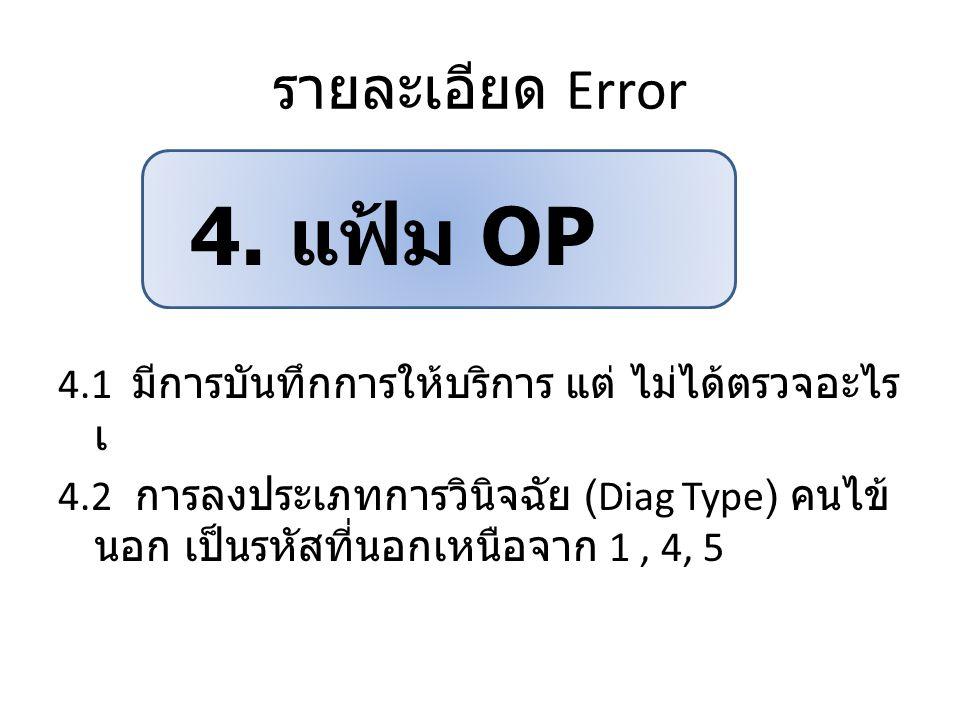 4. แฟ้ม OP รายละเอียด Error