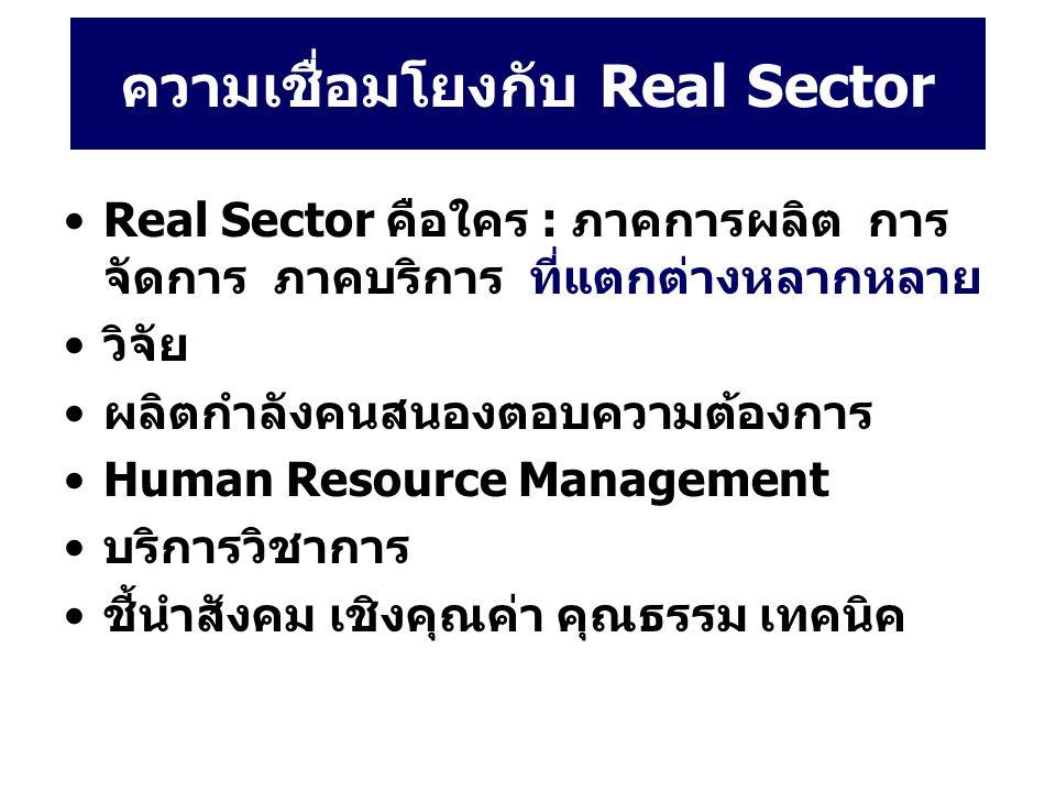 ความเชื่อมโยงกับ Real Sector