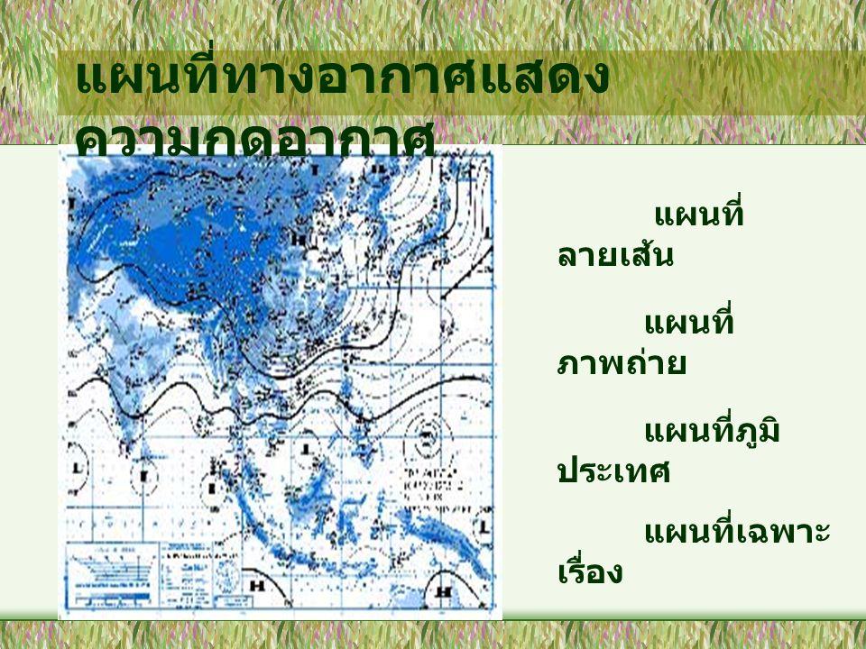 แผนที่ทางอากาศแสดงความกดอากาศ