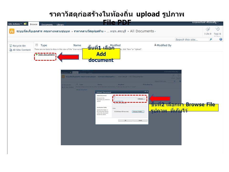 ราคาวัสดุก่อสร้างในท้องถิ่น upload รูปภาพ File PDF