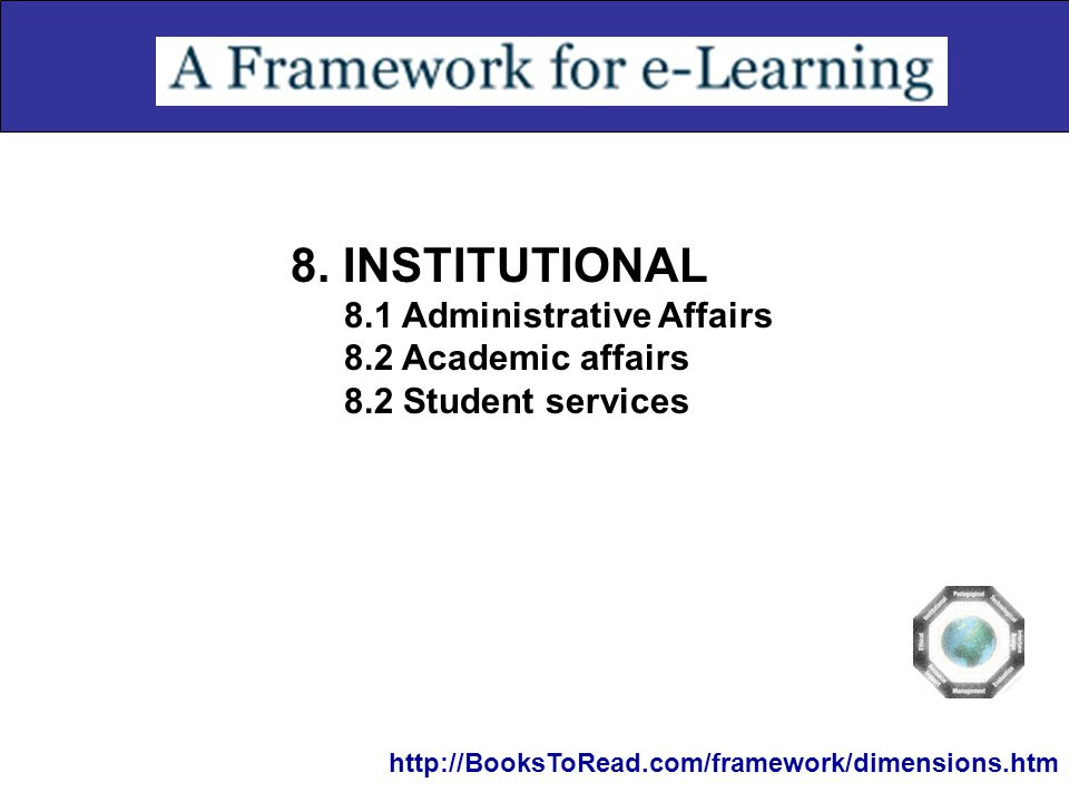8. INSTITUTIONAL 8.1 Administrative Affairs 8.2 Academic affairs