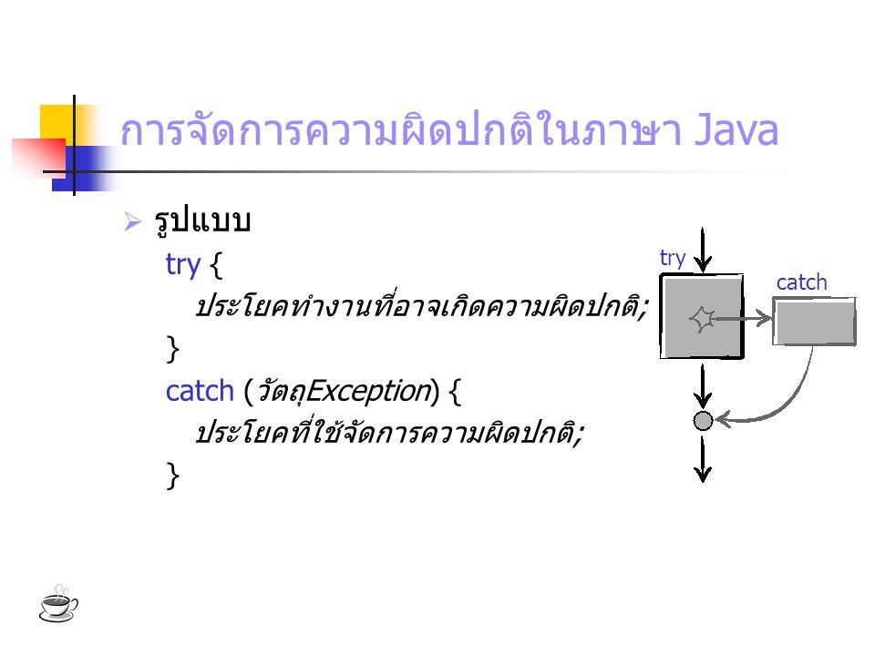 การจัดการความผิดปกติในภาษา Java