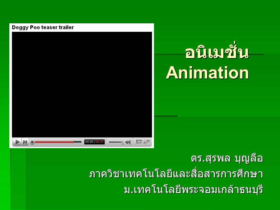 อนิเมชั่น Animation ดร.สุรพล บุญลือ ภาควิชาเทคโนโลยีและสื่อสารการศึกษา