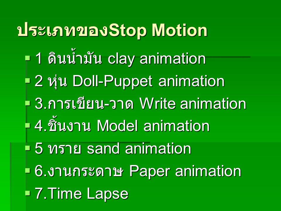 ประเภทของStop Motion 1 ดินน้ำมัน clay animation