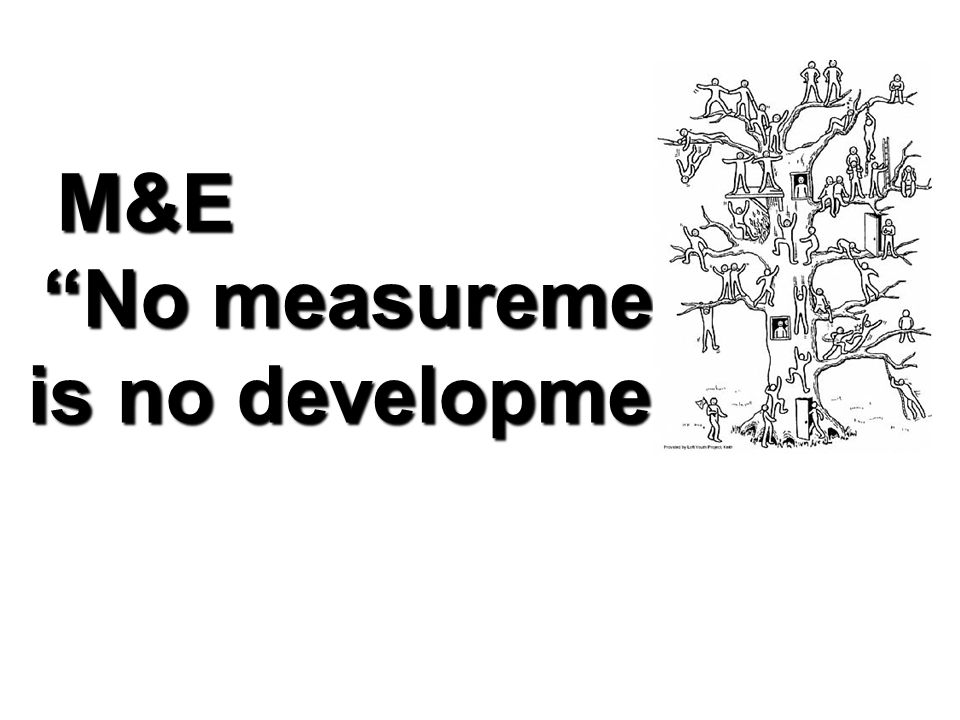 M&E No measurement is no development