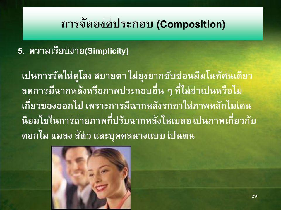 การจัดองค์ประกอบ (Composition) 5. ความเรียบง่าย(Simplicity)