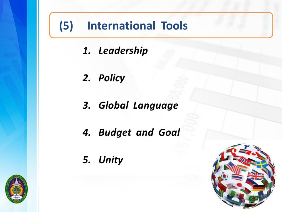 (5) International Tools