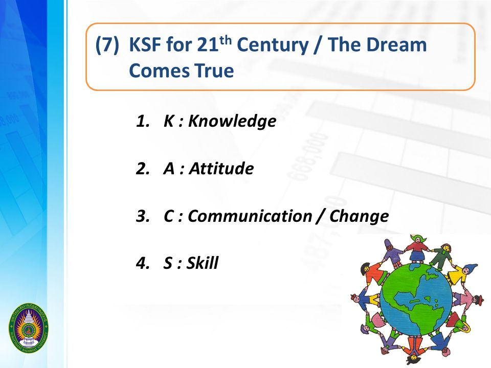 (7) KSF for 21th Century / The Dream Comes True