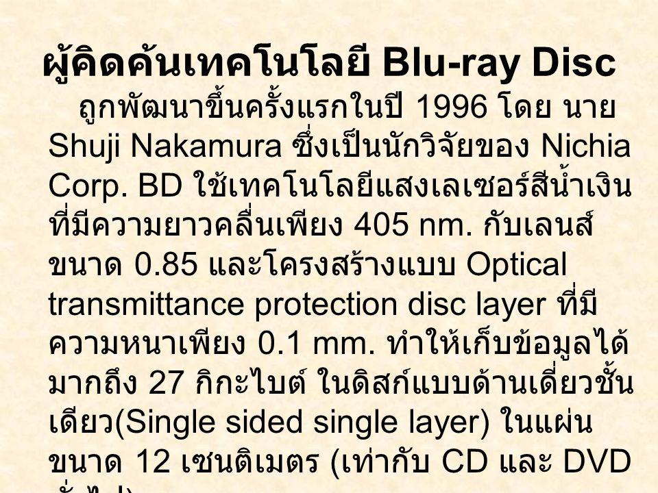 ผู้คิดค้นเทคโนโลยี Blu-ray Disc