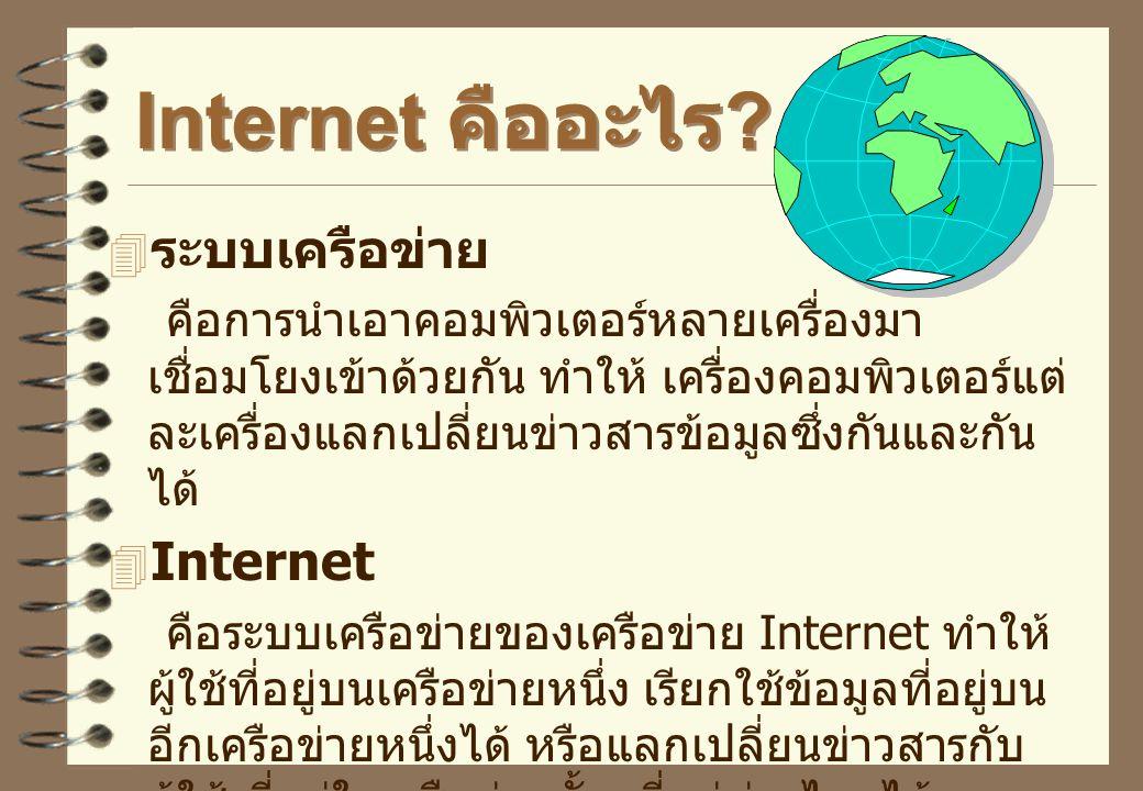Internet คืออะไร ระบบเครือข่าย Internet