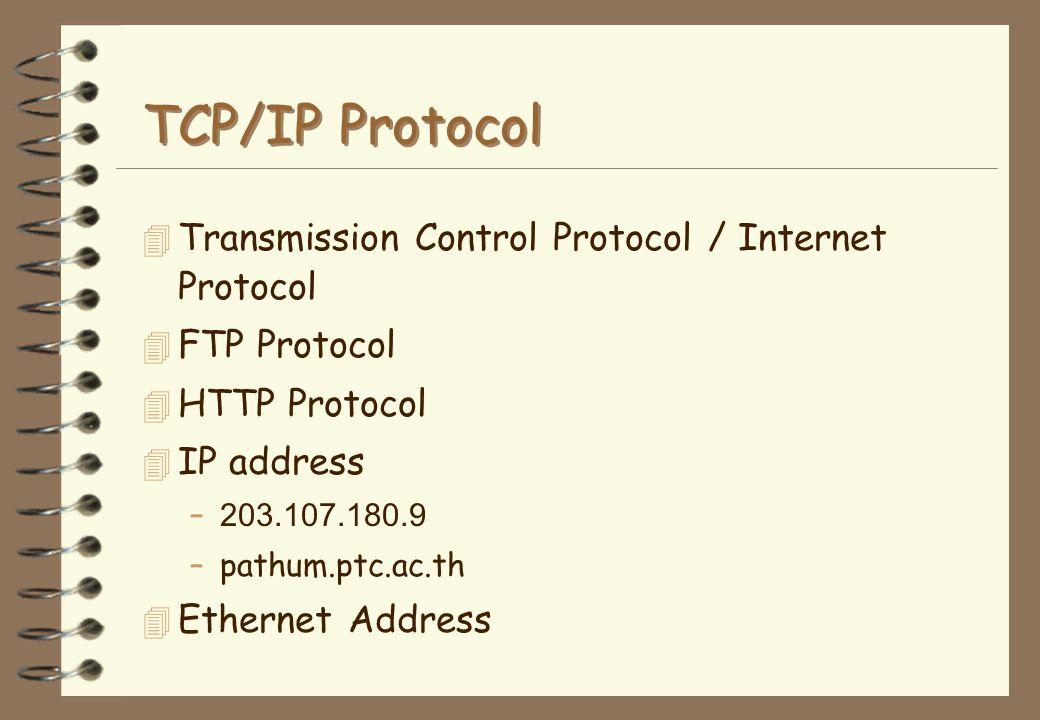 TCP/IP Protocol Transmission Control Protocol / Internet Protocol