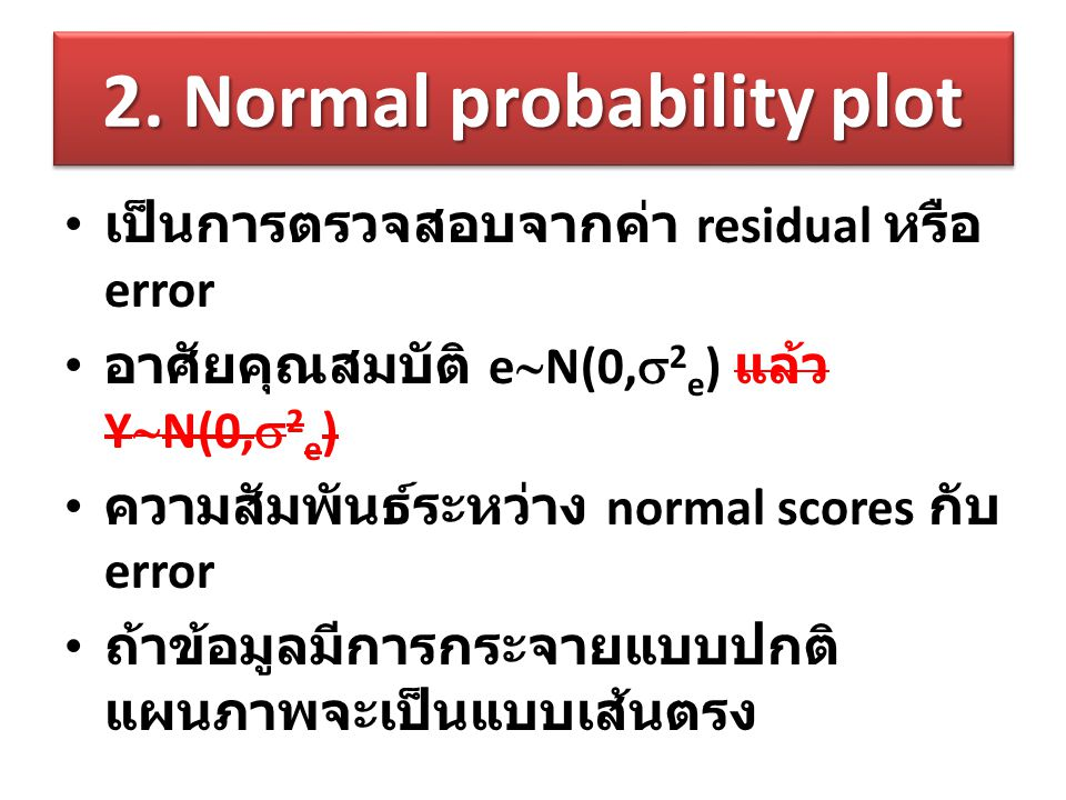 2. Normal probability plot
