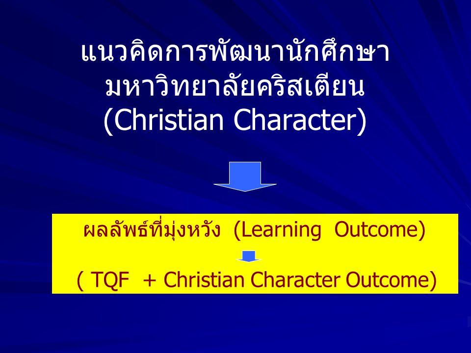 แนวคิดการพัฒนานักศึกษา มหาวิทยาลัยคริสเตียน (Christian Character)