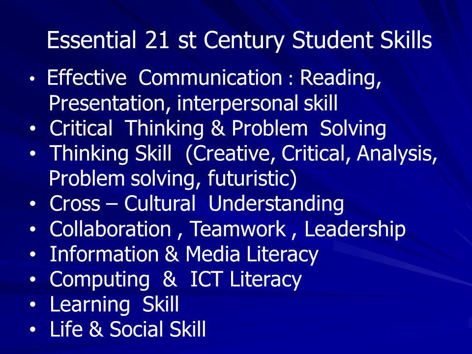 Essential 21 st Century Student Skills