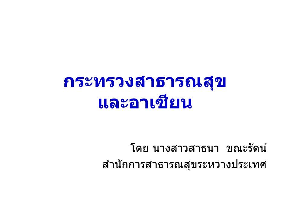 กระทรวงสาธารณสุข และอาเซียน
