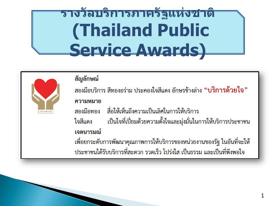 รางวัลบริการภาครัฐแห่งชาติ (Thailand Public Service Awards)