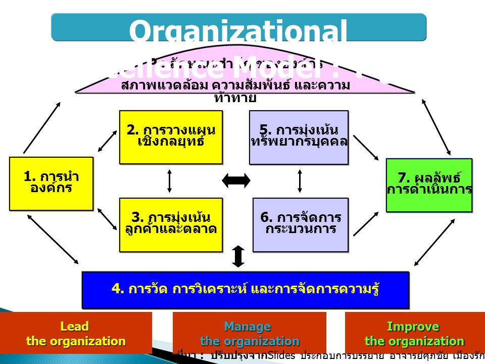 Organizational Excellence Model : TQA