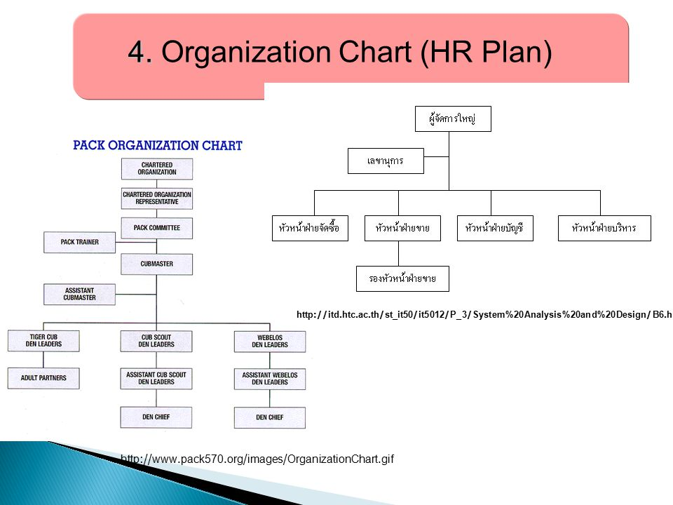 4. Organization Chart (HR Plan)