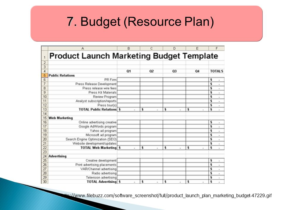 7. Budget (Resource Plan)