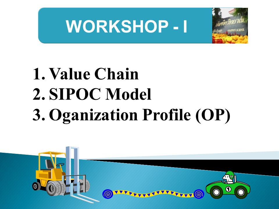 WORKSHOP - I Value Chain SIPOC Model Oganization Profile (OP)