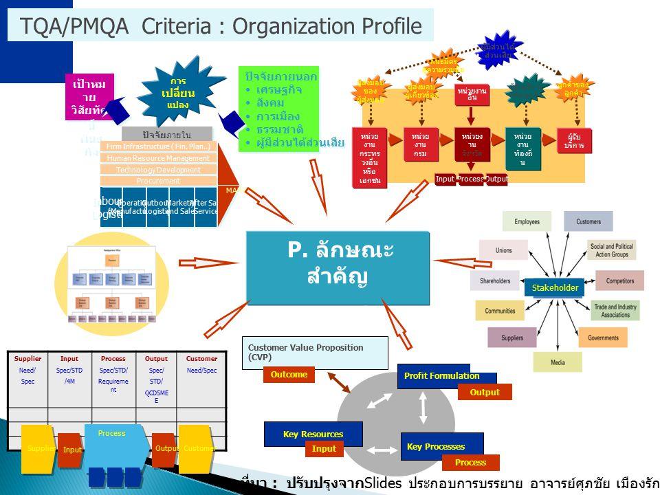 P. ลักษณะสำคัญ ขององค์กร