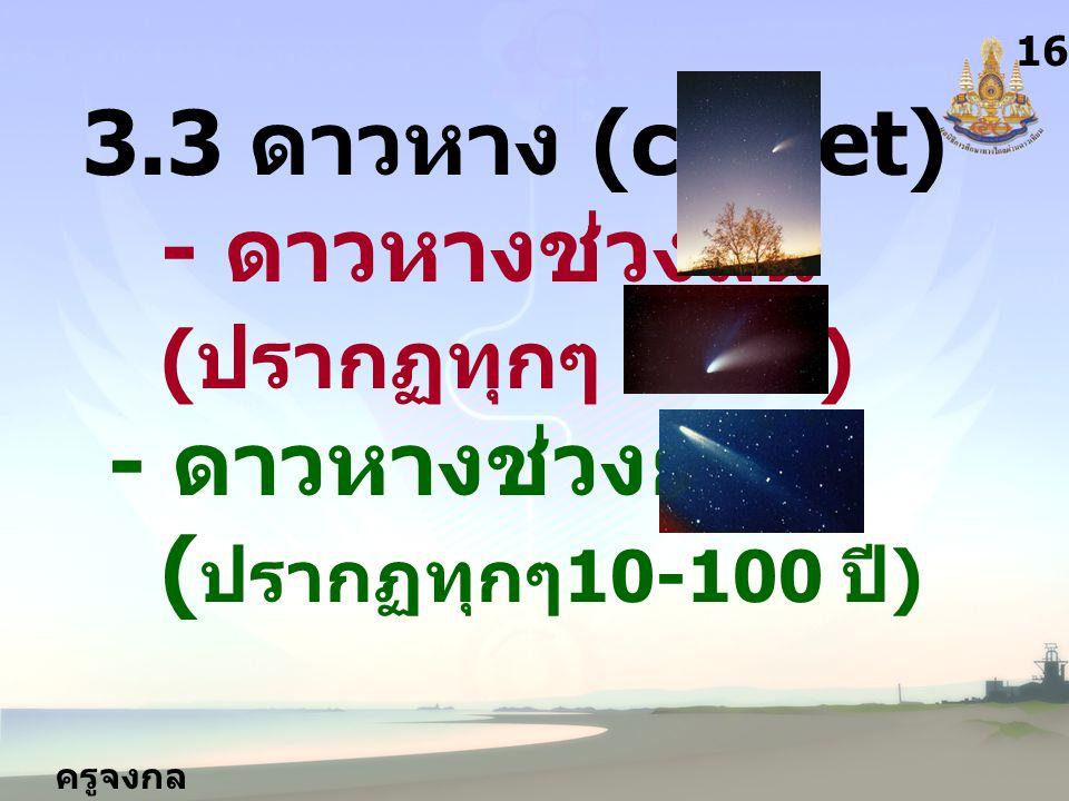 3.3 ดาวหาง (comet) - ดาวหางช่วงสั้น (ปรากฏทุกๆ 3-9ปี) - ดาวหางช่วงยาว