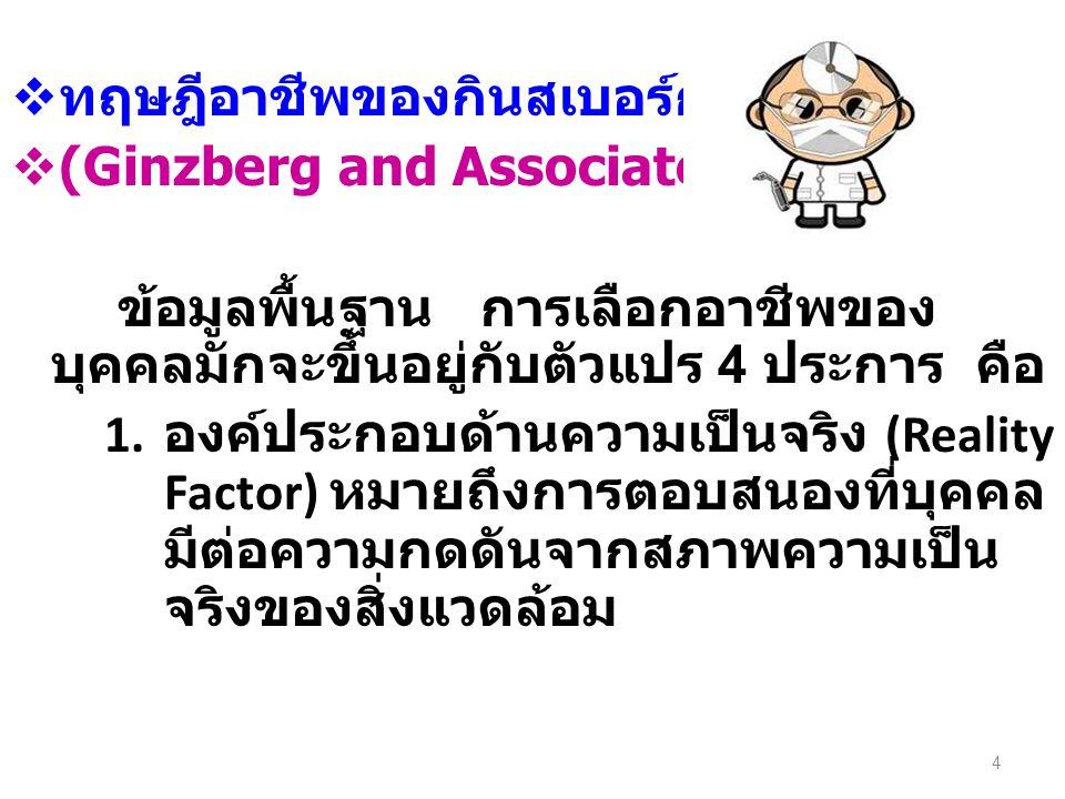 ทฤษฎีอาชีพของกินสเบอร์ก (Ginzberg and Associates' Theory)