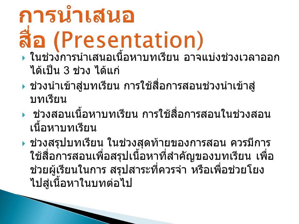 การนำเสนอสื่อ (Presentation)