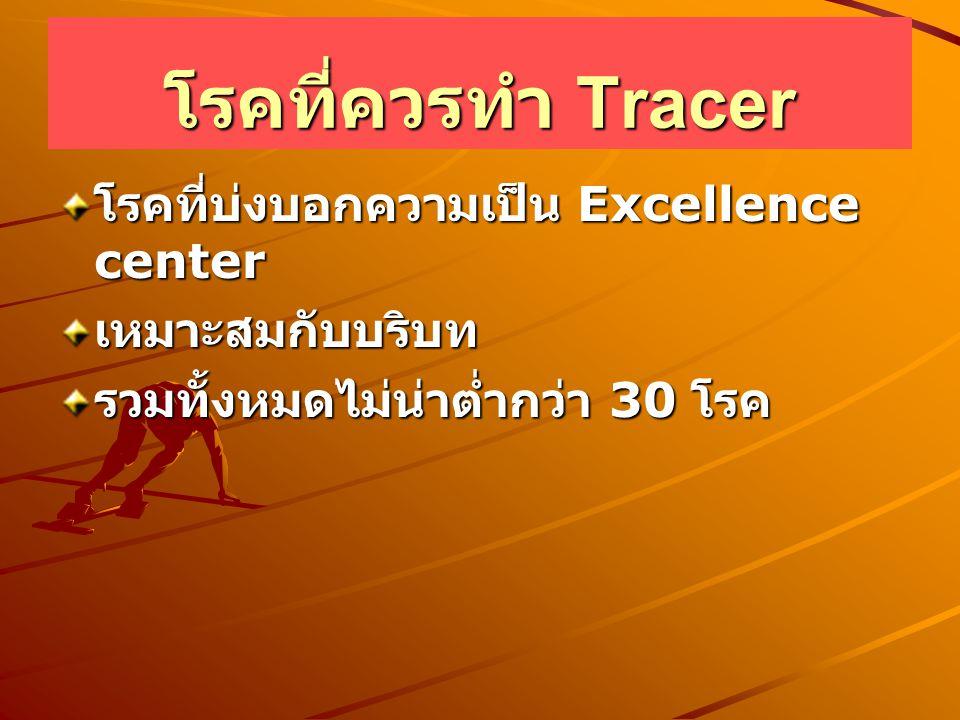 โรคที่ควรทำ Tracer โรคที่บ่งบอกความเป็น Excellence center