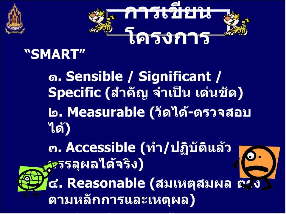 การเขียนโครงการ SMART