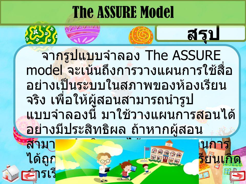 The ASSURE Model สรุป.