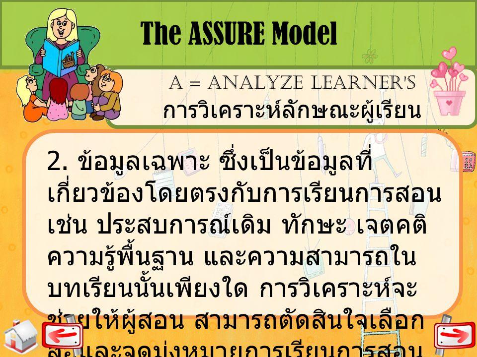 การวิเคราะห์ลักษณะผู้เรียน