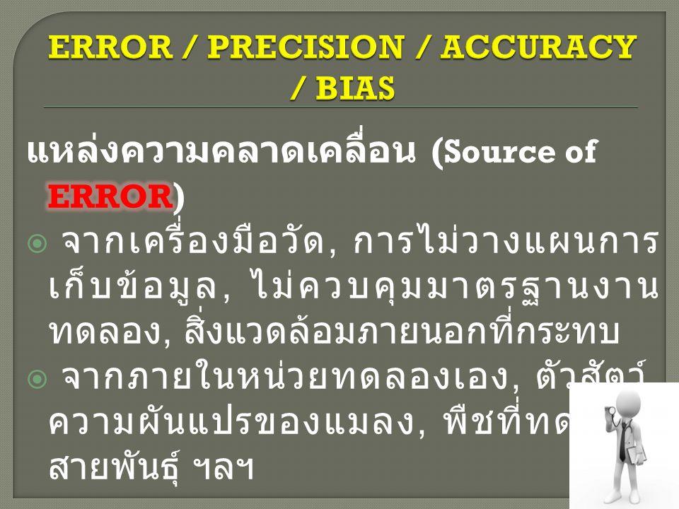 ERROR / PRECISION / ACCURACY / BIAS