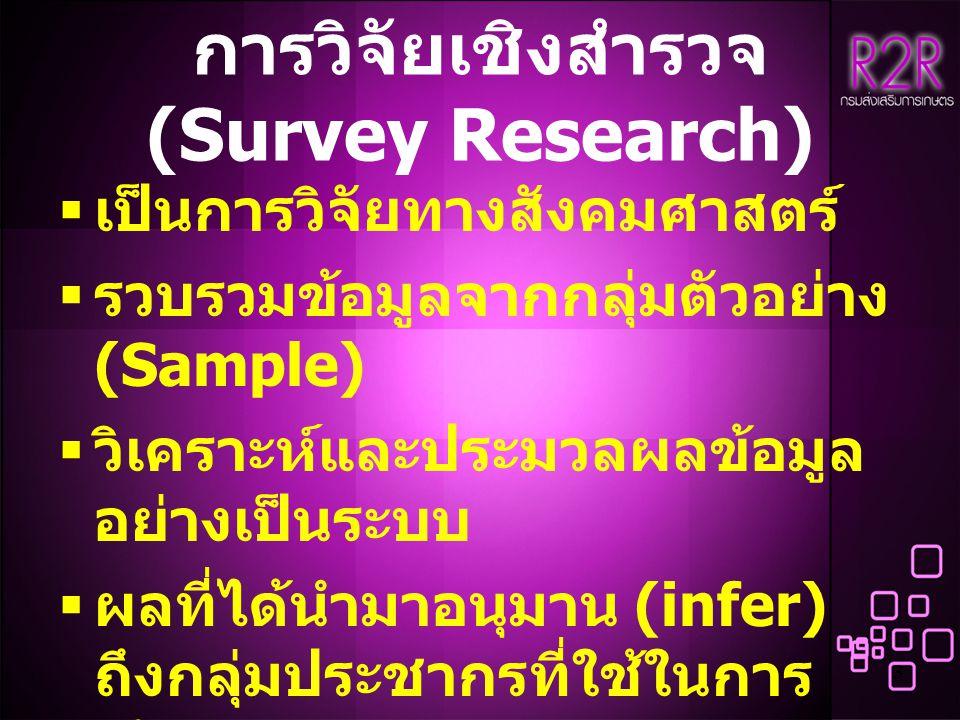 การวิจัยเชิงสำรวจ (Survey Research)