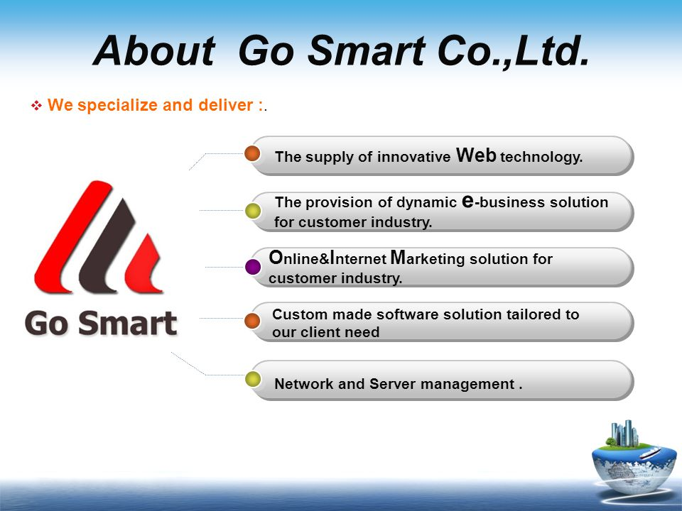 About Go Smart Co.,Ltd. Online&Internet Marketing solution for