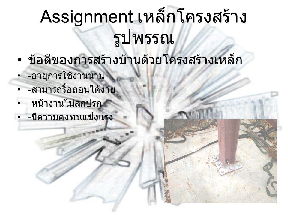 Assignment เหล็กโครงสร้างรูปพรรณ