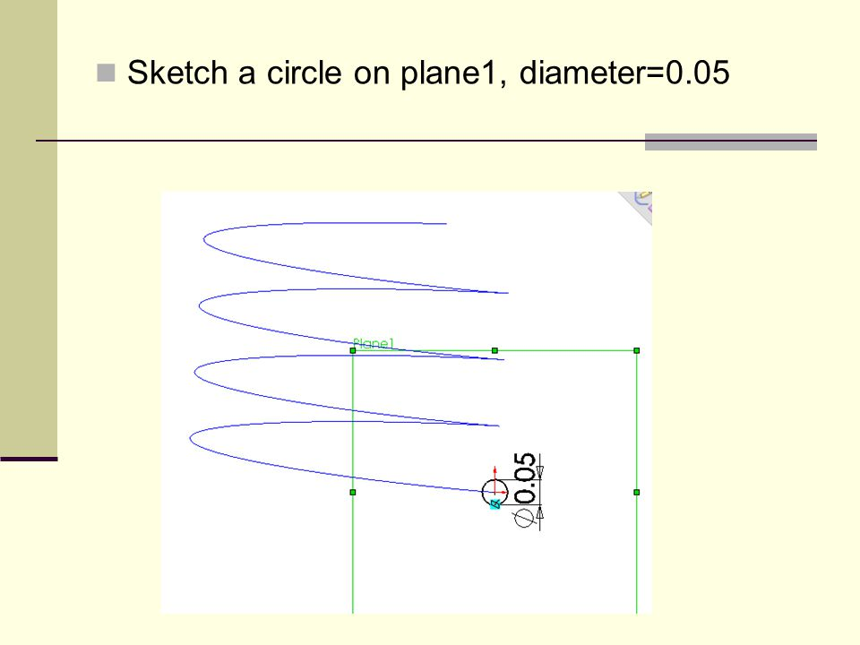 Sketch a circle on plane1, diameter=0.05