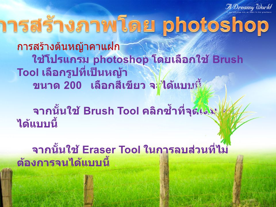 การสร้างภาพโดย photoshop