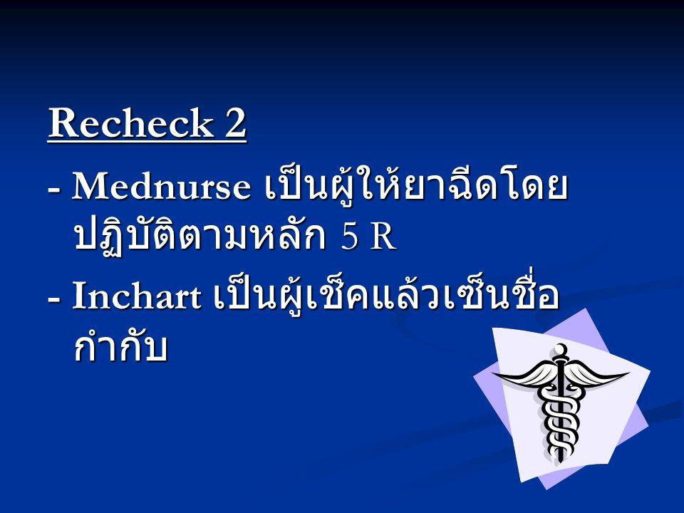 Recheck 2 - Mednurse เป็นผู้ให้ยาฉีดโดยปฏิบัติตามหลัก 5 R