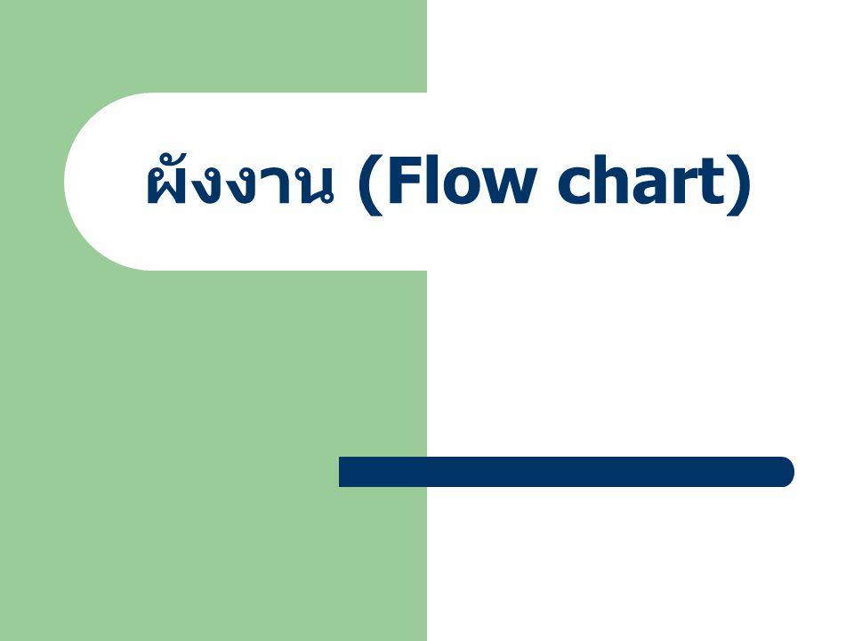 ผังงาน (Flow chart)