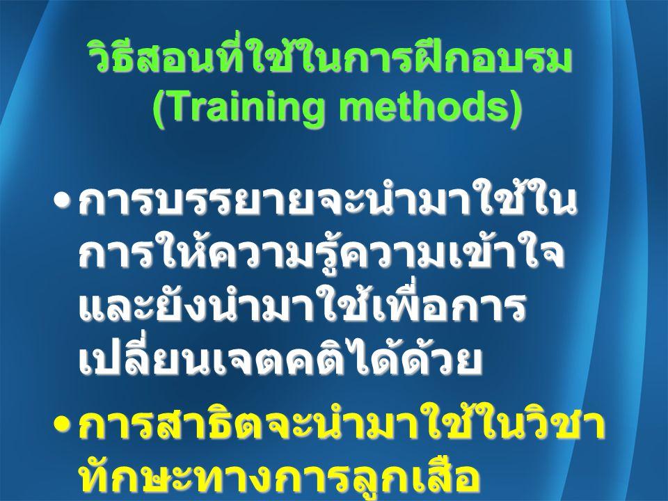 วิธีสอนที่ใช้ในการฝึกอบรม (Training methods)