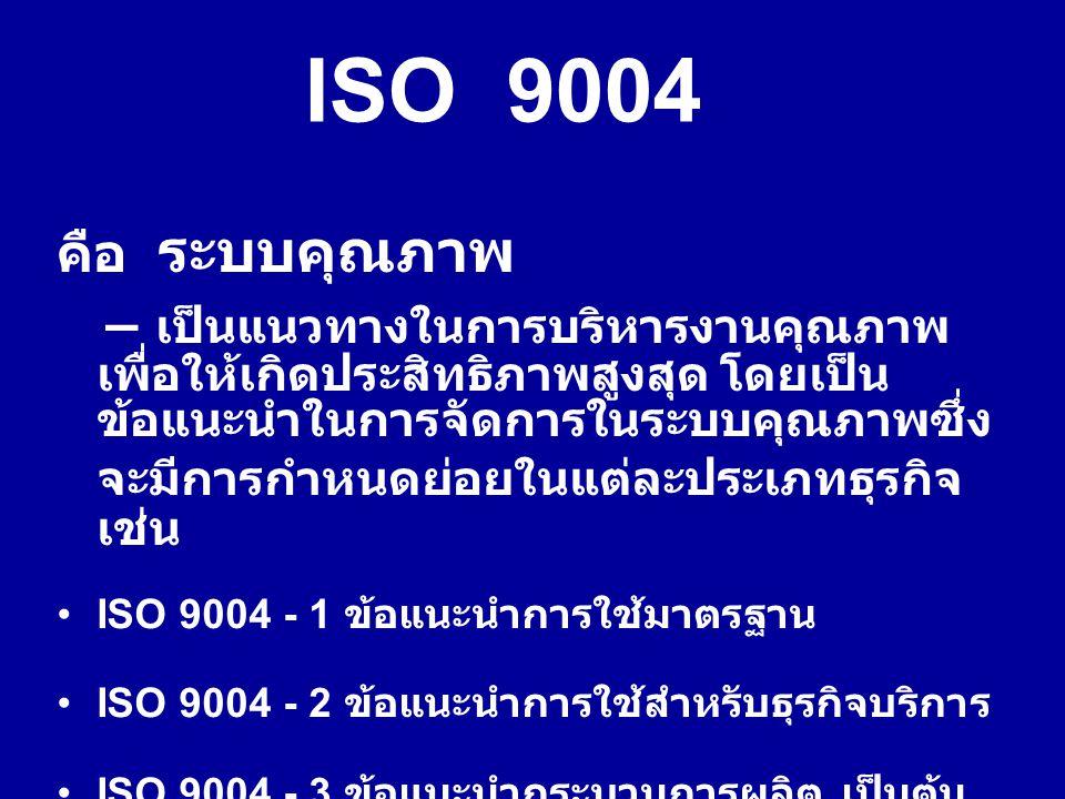 ISO 9004 คือ ระบบคุณภาพ.