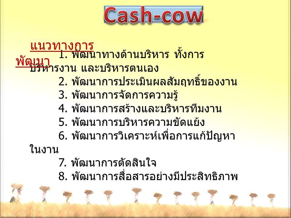 แนวทางการพัฒนา Cash-cow