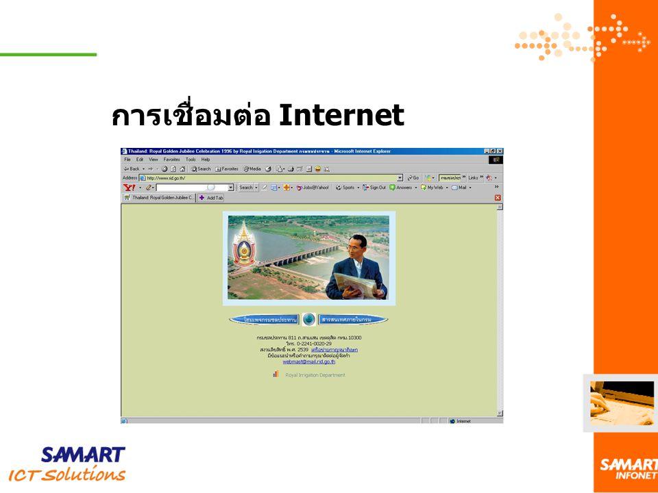 การเชื่อมต่อ Internet