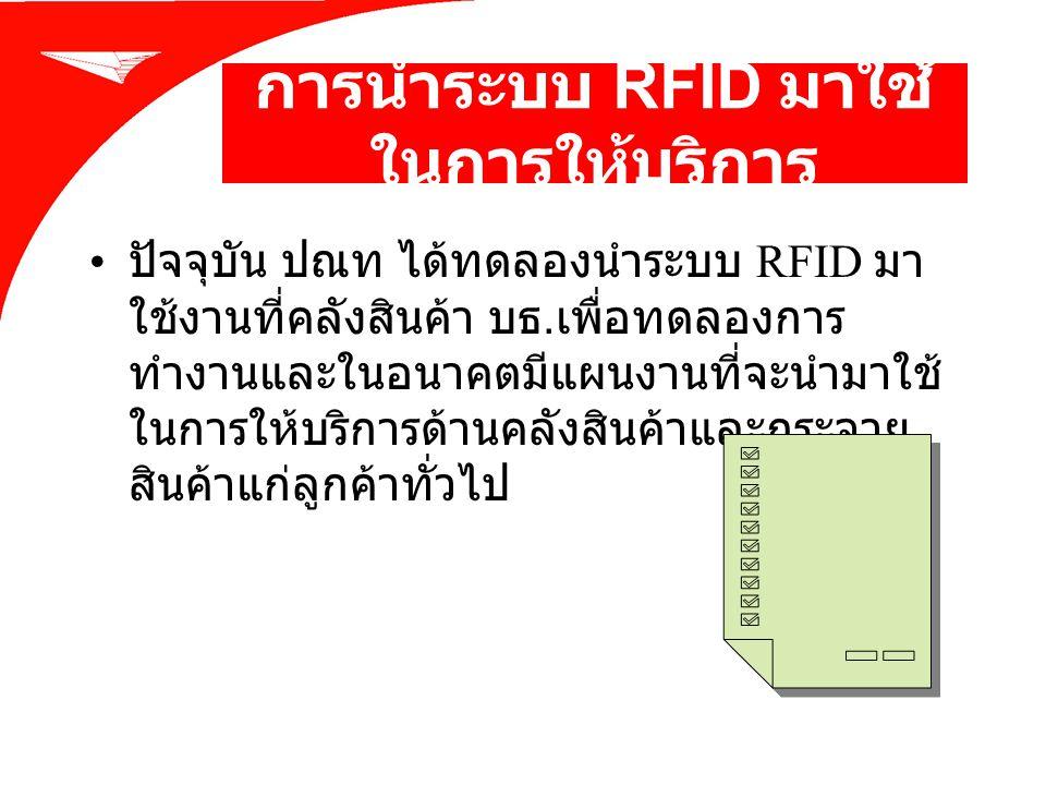 การนำระบบ RFID มาใช้ในการให้บริการ