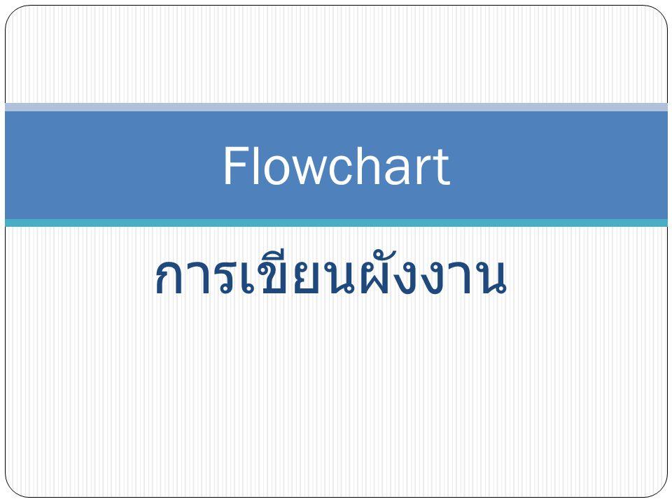 Flowchart การเขียนผังงาน