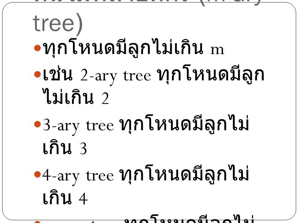 ต้นไม้หลายดีกรี (m-ary tree)