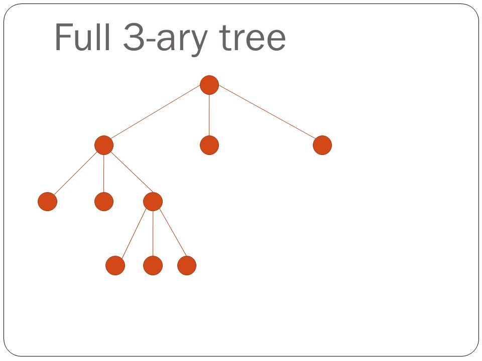 Full 3-ary tree