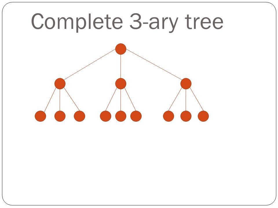 Complete 3-ary tree